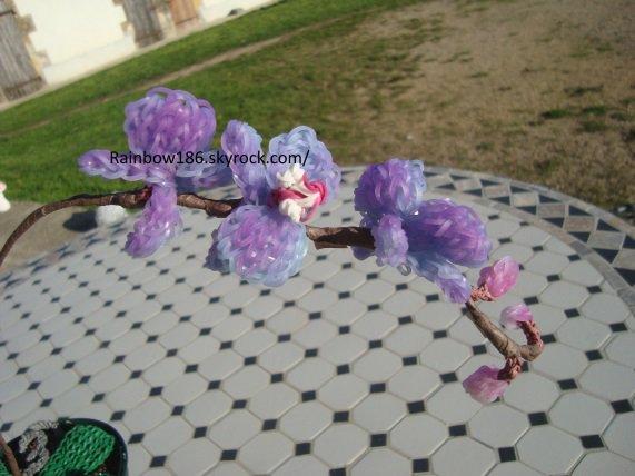 orchidée en élastique rainbow loom
