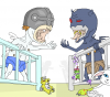 Bébé Angemon et Devimon