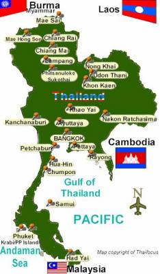 CARTE DE LA THAILANDE