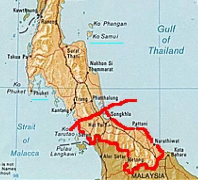 terrorisme dans le sud Thailandais