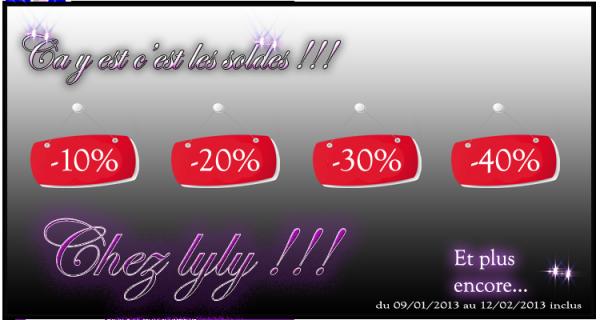C'est les soldes chezlyly.com  -10% -20% -30% -40% www.chezlyly.com