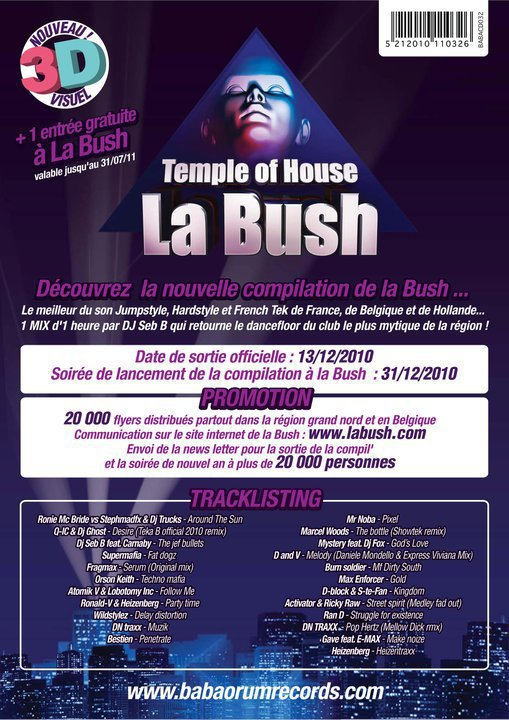 "la nouvelle compilation ""La Bush Temple Of House"""