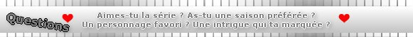 Catégorie Série : Charmed ♥