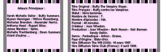 Catégorie Série : Buffy contre les vampires (1997 - 2003) ♥