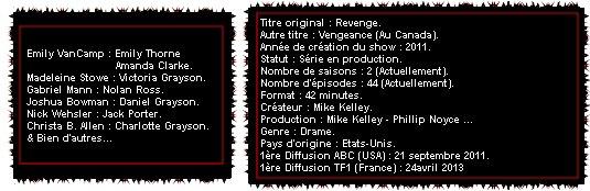 Catégorie Série : Revenge ♥