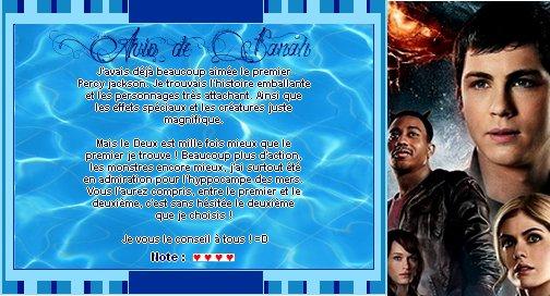 Catégorie Film : La saga Percy Jackson.