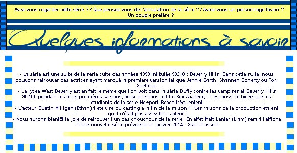 Catégorie Série : 90210 Nouvelle Génération ♥ (2008 - 2013)
