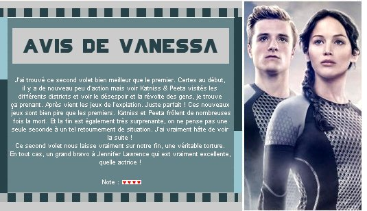 Catégorie Film : Hunger Games 2 - L'embrasement.