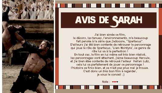 Catégorie Film : La légende d'Hercule.