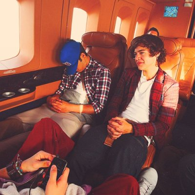 ZAYN & HARRY dans l'avion