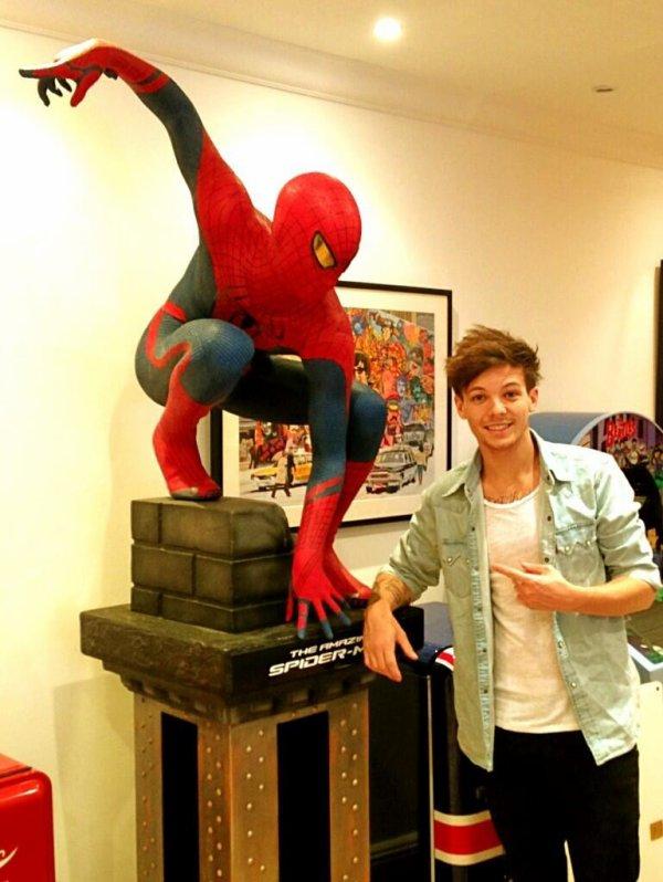 Louis et spider-man