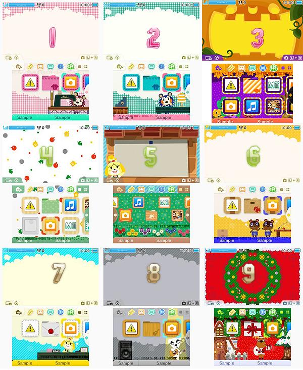 Les thèmes Animal Crossing New Leaf