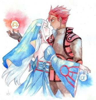 OS ~ Human Pokémon Forms ~ Reshiram x Zekrom ~ Romance under the moon rays
