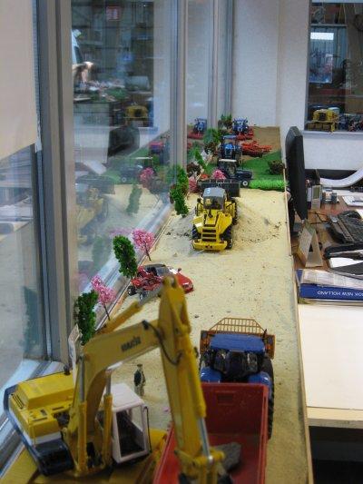 diorama au bureau
