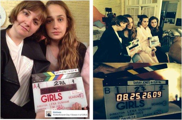 15/04/2014 : Jemima et toute l'équipe de la série Girls on fait leur rentrée sur les plateaux de tournage. Merci aux réseaux sociaux d'exister du coup on a le droit à quelques photos de ce mini évènement.