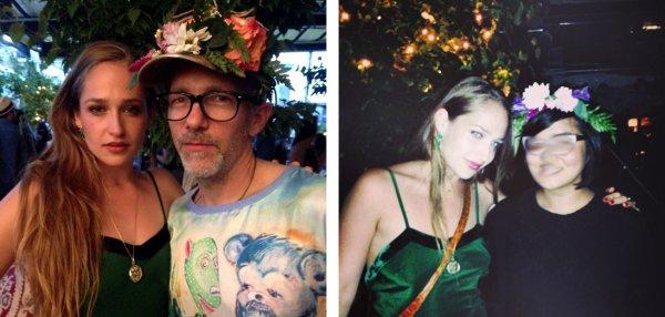 09/07/2014: Jemima était à l'event Artbinder avec pour thème: soirée d'été bohémienne. Elle était sublime et totalement dans le thème. Perso,j'aurai cintré sa robe mais sinon j'adore... Et j'aime quand elle met des cheveux que d'un côté. Elle y a retrouvé son ami artiste Scooter Laforge.