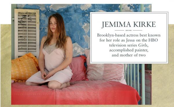 Jemima est égérie pour la marque Fresh. Elle a donc donné quelques photos d'elle au naturel à la marque (sur certaines elle est très jeune) et a parlé de ses inspirations et de ses rituels beauté sur leur site.