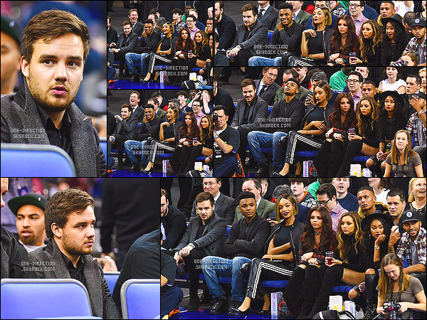 . 15/01/15 : Liam s'est rendu au match de la « NBA », opposant les New York Knicks aux Milwaukee Bucks. Le match se déroulait à l'O2 Arena située dans la capitale anglaise Londres. On peut voir que les Little Mix étaient également au rendez-vous. .