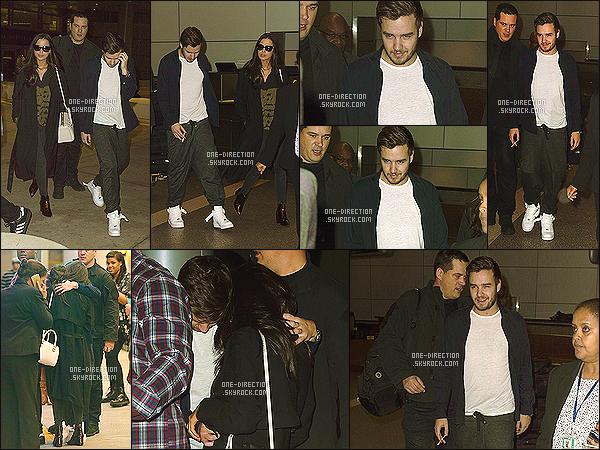 . 21/01/2015 : Liam a été aperçu, aux côtés de Sophia, arrivant à l'aéroport de « LAX » situé à Los Angeles C'est la tête dans le cul que Liam s'est montré face aux photographes. Il a essayé de se cacher dans les bras de sa petite-amie avant d'aller fumer. .