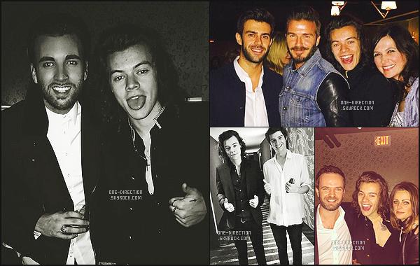 . Harry a fêté son 21ème anniversaire en compagnie de plusieurs célébrités le 31 janvier. On peut dire qu'Harry est plutôt aimé dans le monde des célébrités puisque même David Beckham a fait le déplacement pour son anniversaire. .