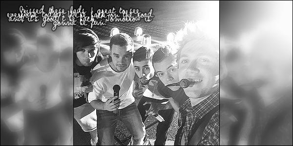 . 06/02/15 : Louis, Harry et Zayn ont été aperçus alors qu'ils arrivaient à l'aéroport de Sydney en Australie Les garçons sont donc tous arrivés en Australie. Zayn est arrivé seul de son côté de Londres tandis que Louis et Harry sont arrivés de Los Angeles. .