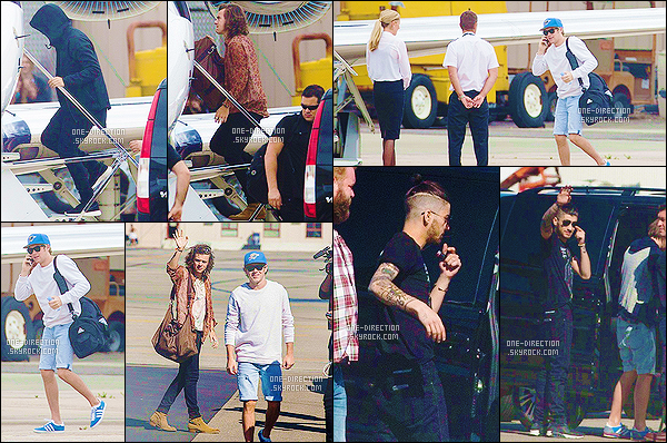 17/02/2015 : Liam, Harry, Zayn et Niall ont étaient vus, allant prendre un jet privé pour aller à AdelaideLouis n'était pas présent avec le reste du groupe, je ne sais pas pour quelles raisons d'ailleurs. De plus, il y a très peu de photographies de Liam.