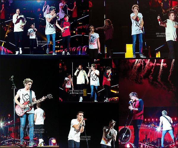 20/02/2015 :  Le groupe donnait leur dernier show du  « On The Road Again Tour » à Perth en Australie.C'était le dernier concert que les One Direction donnaient en Australie. Le groupe est maintenant au Japon où la tournée reprendra le 24 février.