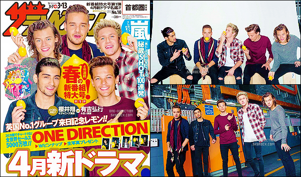 . Les One Direction font la première de couverture d'un magazine originaire du Japon. .