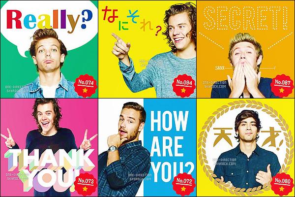 . Découvrez plusieurs photos des One Direction pour la marque de téléphonie « Docomo » .