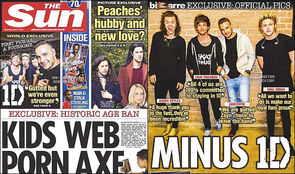 . - Découvrez la toute première interview des One Direction depuis le départ de Zayn. .