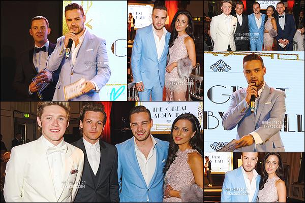 16/04/15 : Liam, Louis et Niall étaient présents lors du « Great Gatsby Ball »  qui se déroulait à Londres.L'événement avait lieu au Bloomsbury Ballroom de Londres afin de soutenir la lutte contre le cancer des jeunes. Ils sont vraiment très beaux.