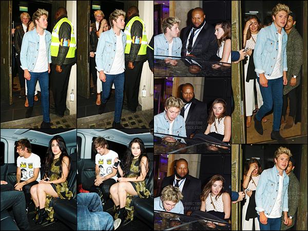 02/06/15 : Niall H. et Louis T. ont été aperçus quittant le boîte de nuit « Le Cirque » situé dans Londres.Il semblerait que Louis soit reparti en charmante compagnie puisqu'en effet, il s'agit de Lauren Jauregui du groupe Fifth Harmony. Quelle horreur