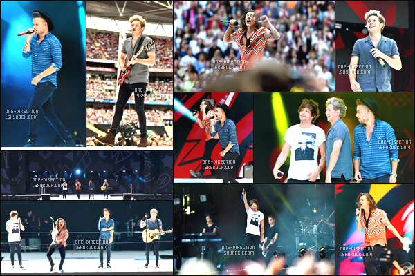 06/06/2015 : Les One Direction étaient présents sur la scène du « Capital Summertime Ball » à LondresLes gars ont ouvert le festival avec la chanson Steal My Girl puis avec Girl Almighty, Night Changes, What Makes You Beautiful et Best Song Ever.