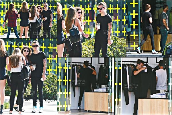 07/07/2015 : Harry a été photographié alors qu'il s'accordait une séance de shopping à Melrose en Floride.Durant cette petite balade, Harry a croisé le chemin de beaucoup de fans pour qui il a prit le temps de s'arrêter. Il portait ses chaussures immondes.