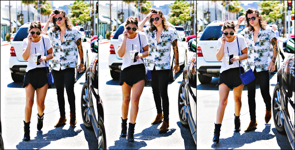 11/07/2015 - Harry a été aperçu, quittant le magasin « Yves Saint-Laurent » de Los Angeles.Harry a croisé de nombreux fans dans la vie notamment une qui lui a commencé à lui gueuler dessus car celui-ci était moche sur sa photo. Connasse.