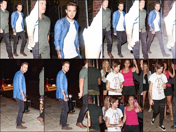 30/08/2015 : Liam, Louis & Niall ont été vus alors qu'ils se rendaient à la fête de Sandy, un des musiciens.En effet, celui-ci s'est marié dans les jours suivants. Les garçons se sont donc rendus à la fête pour son enterrement de vie de jeune garçon, un top !