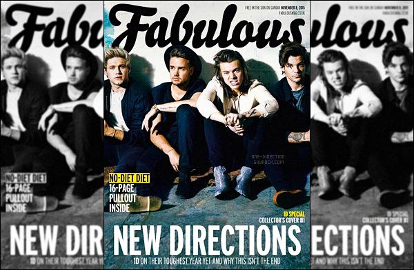. ▬ Les One Direction faisaient la première de couverture du magazine « Fabulous » .