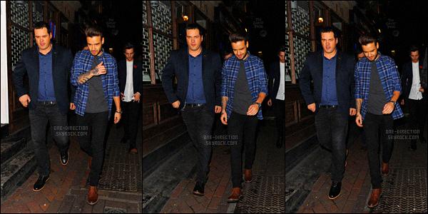 02/11/2015 : Liam, Louis et Niall se sont rendus à la boîte de nuit « Cirque Le Soir » située dans Londres.Comme d'habitude, Harry n'est pas de la partie. Celui-ci sortant très rarement en boîte de nuit avec le reste des garçons. Je trouve ça dommage...