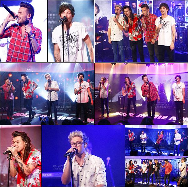 17/11/2015 : Les One Direction ont été aperçus en quittant les studios de la chaîne  « ABC » à Los Angeles.Le groupe s'est rendu dans les studios de la célèbre chaîne afin d'enregistrer l'émission « Good Morning America » et d'y chanter des chansons.
