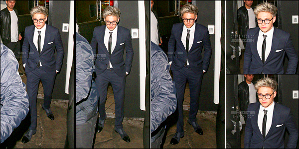 22/11/15 : Niall a été photographié en quittant le restaurant « The Nice Guy » qui se situe à Los Angeles.De son côté, Zayn a été aperçu alors qu'il venait chercher Gigi Hadid après l'after-party des « American Music Awards » au « The Nice Guy »