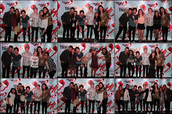02/12/15 : Les One Direction étaient au « 9.7 NOW! Triple Ho » qui se déroulait à San Jose (Californie)Comme la veille, les garçons continuent la promotion du nouvel album en performant sur différentes scènes dans plusieurs villes des États-Unis.