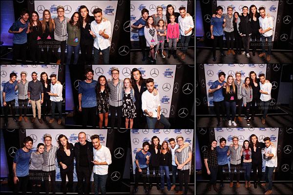 04/12/2015 : Les One Direction étaient au « 102.7 KIIS FM Jingle Ball » qui se déroulait à Los AngelesComme les deux jours précédents, les One Direction continuent d'enchaîner la promotion de « Made In The A.M. » dans les villes de Californie.