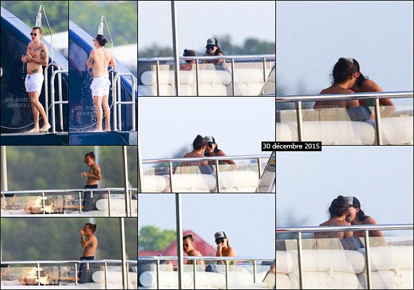 30/12/15 : C'est sur un yacht à Saint-Barts que l'on retrouve Harry S. en compagnie de Kendall Jenner.Des rumeurs fusent en ce qui concerne les deux ex-petits amis. Il semblerait qu'Harry Styles se soit remis en couple avec la plus vieille des Jenner.