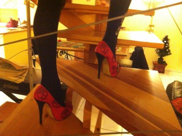 Les talons rouges de Brigitte