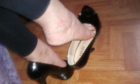 Superbes les talons noirs de mon amie Sophie....