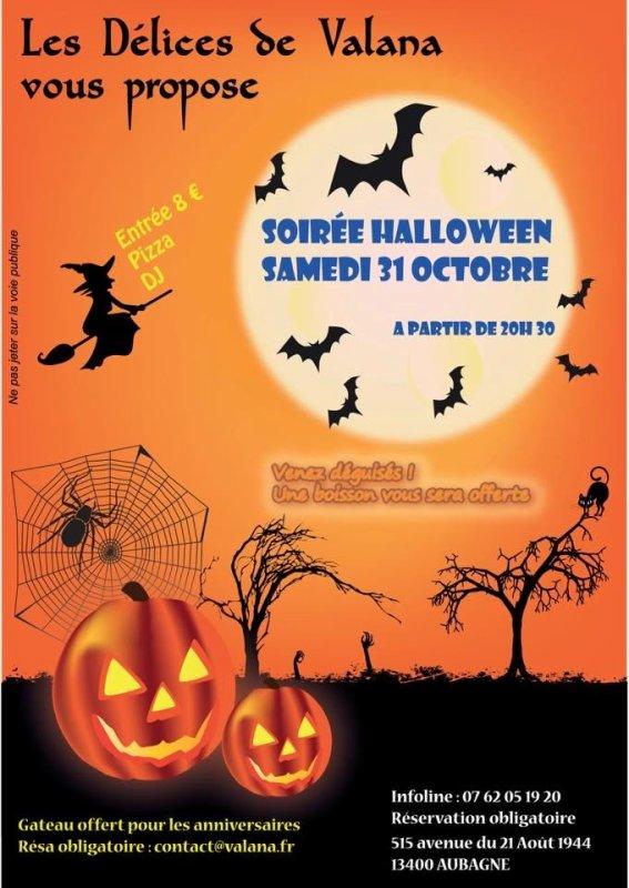 Soirée halloween samedi 31 octobre