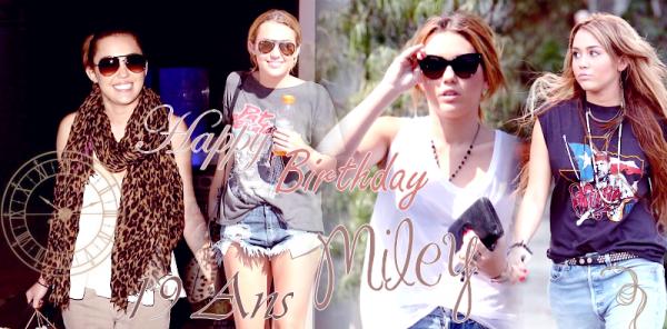 * * HAPPY BIRTHDAY !!* *  Miley reçoit 19 ans aujourd'hui :) * *