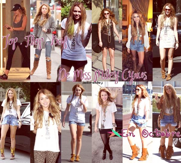 >> {Création by me }                                  Les tenue que Miley a porté ce moi-ci en Octobre TOP , BOF ,FLOP a vous de juger !! Dites moi aussi si ma créa et jolie ;D     jadoremiley