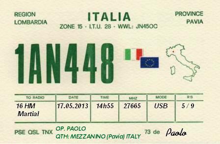 Qsl de la division 1: Italie