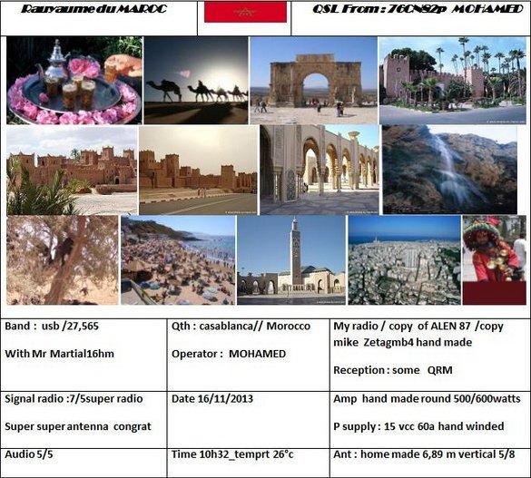 Qsl de la division 76: Maroc
